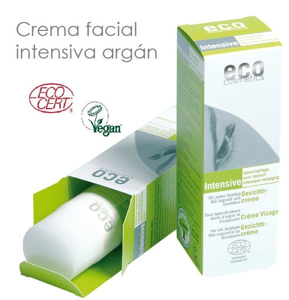 Hidratante facial intensiva argán - 50ml - Eco Cosmetics